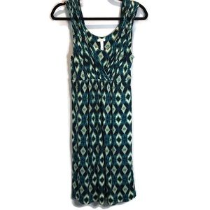 Soma Twist Strap Empire Waist Geometric Dress M